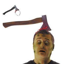 Serre tête hache sanglante farce halloween Accessoires de fête 90276