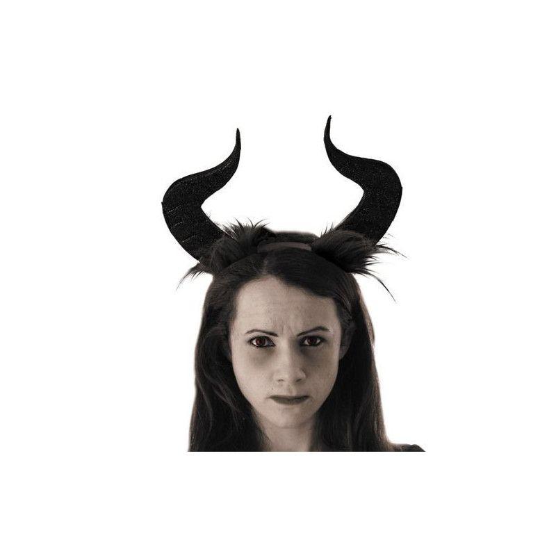 Serre-tête avec cornes sorcière maléfique Accessoires de fête 90284