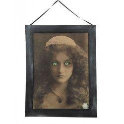 Tableau hanté avec son et lumière décoration halloween Déco festive 90293
