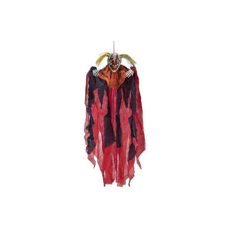 Squelette de clown maléfique à suspendre 65 cm Déco festive 9033