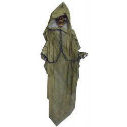 Squelette avec tunique verte à suspendre Déco festive 90953906