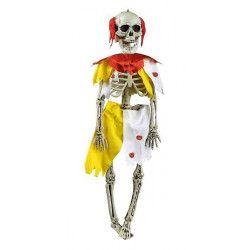 Déco festive, Squelette clown zombie halloween à suspendre, 90955257, 5,90€