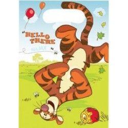 Party sachets Winnie the Pooh par 6 92058 Anniversaire Déco festive 92058
