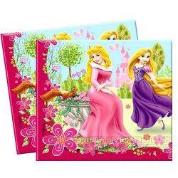 Serviettes Princesse Summer Palace x 20 pièces Déco festive 92247