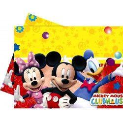Nappe anniversaire plastique Playful Mickey™ Déco festive 92558