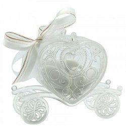 Contenant dragées carrosse coeur plastique transparent Cake Design 92633
