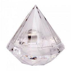 Boite diamant transparente pour dragées Déco festive 92647