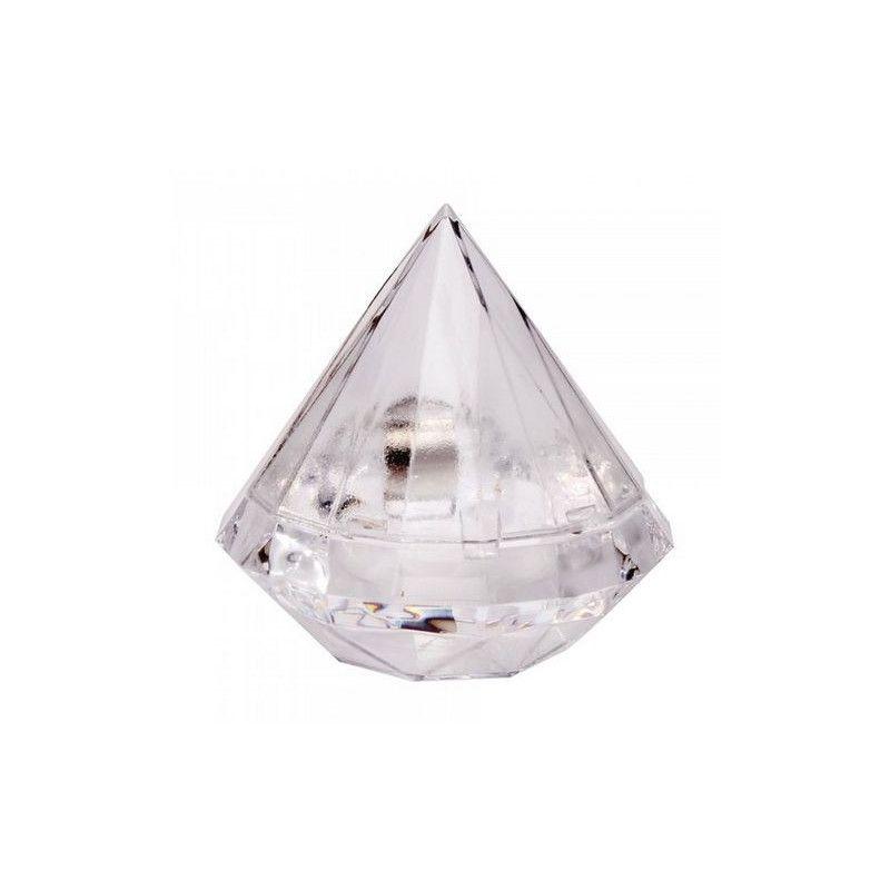 Boite diamant transparente pour dragées Cake Design 92647