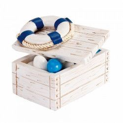 Déco festive, Malle dragées imitation bois déco bouée, 92755, 2,60€