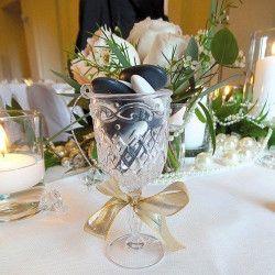 Déco festive, Verre sur pied en plastique décoration mariage, 92964, 1,70€