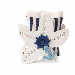 Contenant à dragées étoile de mer et pochon Cake Design 93067