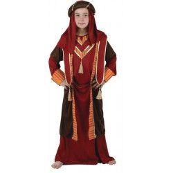 Déguisements, Déguisement enfant Prince Arabe rouge 5-6 ans, 94107, 24,90€