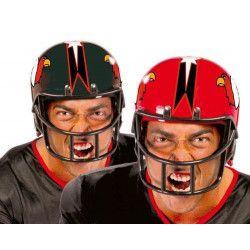 Casque football américain rouge Accessoires de fête 13404