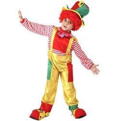 Déguisement clown jaune avec chapeau garçon 5-6 ans Déguisements 94346