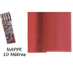 Déco festive, Nappe intissée 10 m - Bordeaux, 96036, 8,50€