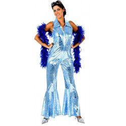 Costume disco bleu brillant femme taille M-L Déguisements 96134