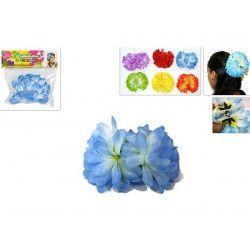 Fleur fantaisie hawaïenne sur barrette Accessoires de fête 96363