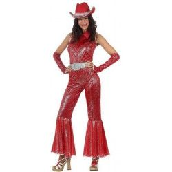 Déguisement disco rouge brillant femme taille XL Déguisements 96608