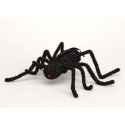 Araignée noire avec paillettes Déco festive 97625