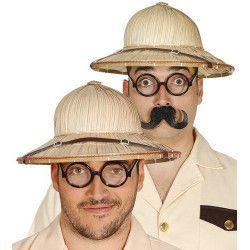 Chapeau paille colonial adulte Accessoires de fête 13615