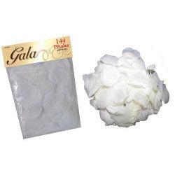 Déco festive, Pétales de rose en tissu blanc, 98221, 2,40€