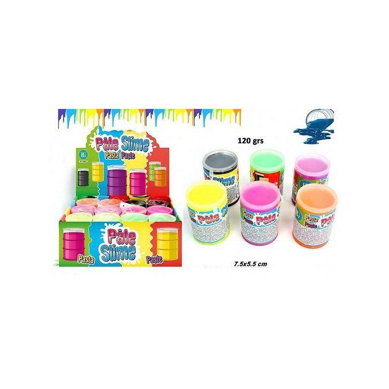 Pâte slime fluo baril 120 grs vendue par 12 Jouets et articles kermesse 13625-LOT
