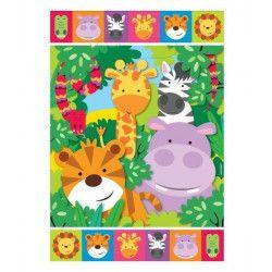Sachets cadeaux animaux de la jungle x 8 Déco festive 9901919