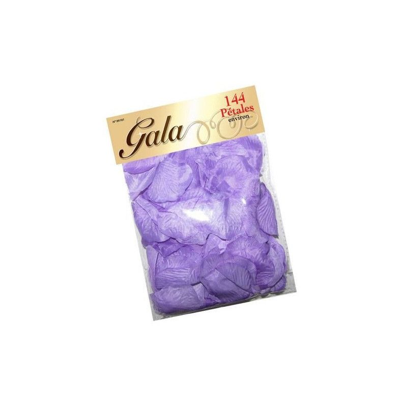 Pétales de rose en tissu violet Déco festive 99181