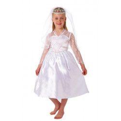 Déguisements, Déguisement mariée enfant 6-8 ans, 995021, 32,90€