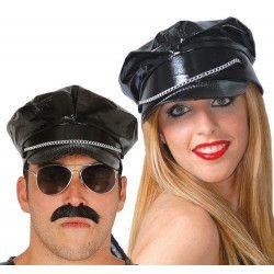 Casquette vinyle noire mixte Accessoires de fête 13707
