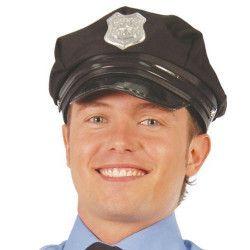 Accessoires de fête, Casquette noire de policier adulte, 13714, 5,40€