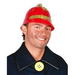 Accessoires de fête, Casque de pompier rouge, 13802, 1,90€