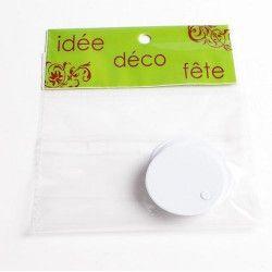 Étiquette nom ronde autocollante x 25 - rose clair Déco festive 13857