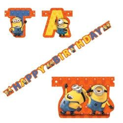 Guirlande Happy Birthday Minions™ Déco festive 997977