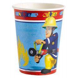 Déco festive, Gobelets jetables Sam le pompier x 8, 998151, 2,49€
