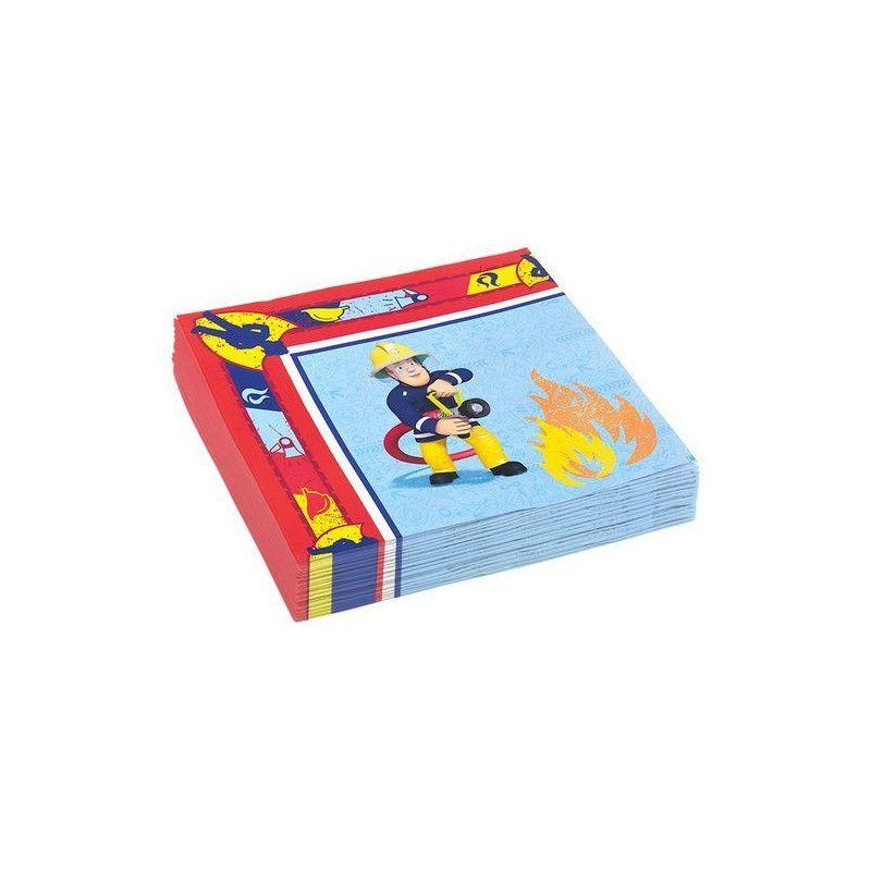 Déco festive, Serviettes papier x 20 Sam le pompier 33 cm, 998152, 3,40€