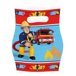 Sachets anniversaire Sam le pompier x 8 Déco festive 998155