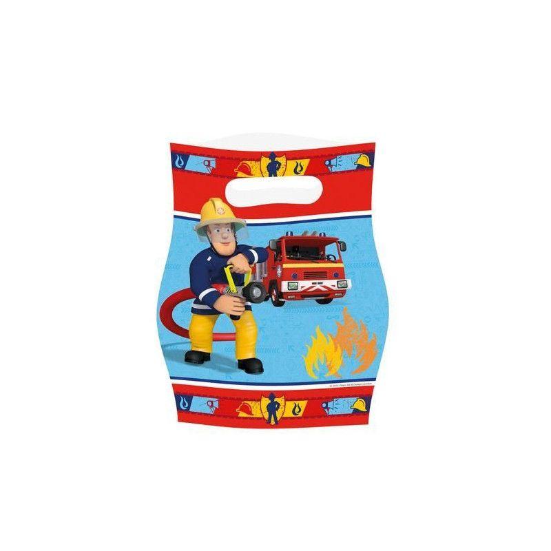 Déco festive, Sachets anniversaire Sam le pompier x 8, 998155, 1,90€