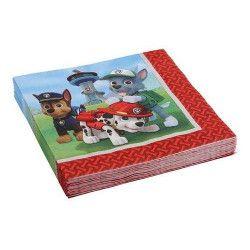 Serviettes papier Pat'Patrouille™ 33x33cm Déco festive 999134