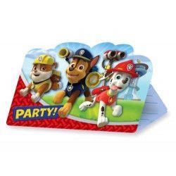 Déco festive, Cartes invitation avec enveloppes Pat'Patrouille™ x 8, 999138, 3,90€
