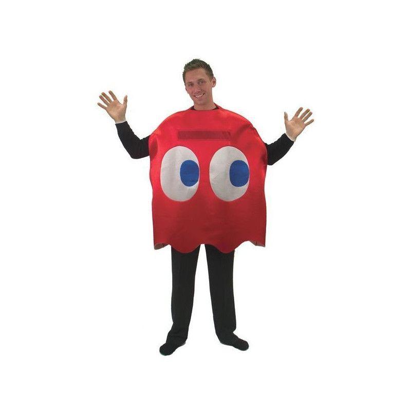 Déguisements, Déguisement humoristique fantôme rouge Pac homme, 99929, 25,90€