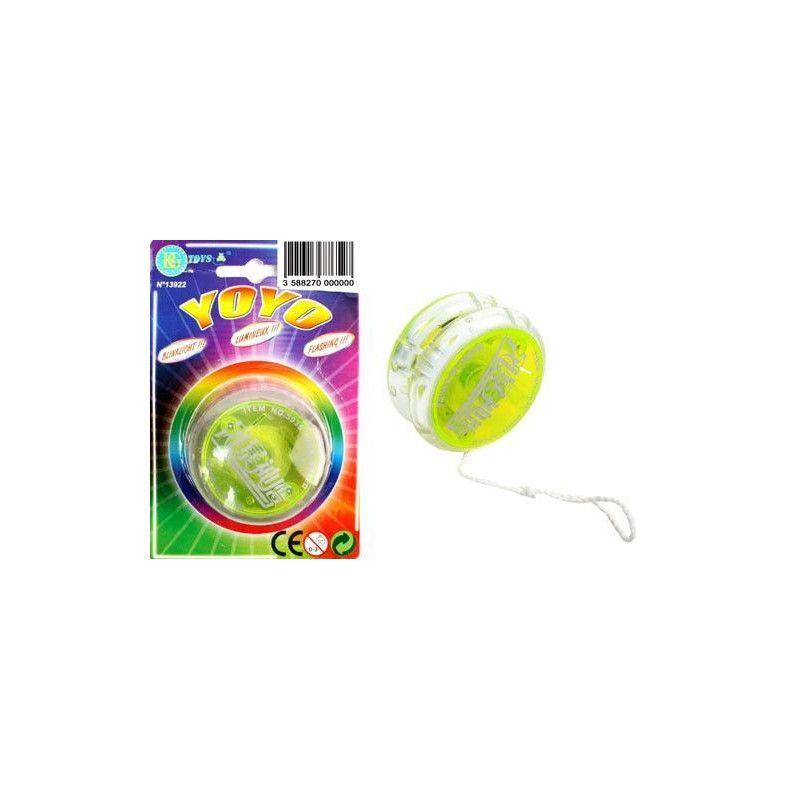 Yoyo lumineux débrayable 5.5 cm Jouets et articles kermesse 13922
