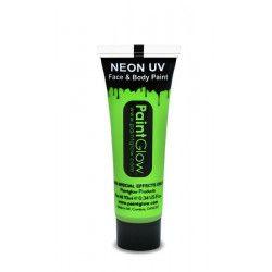 Tube maquillage vert fluo UV 10 ml Accessoires de fête AA1A02