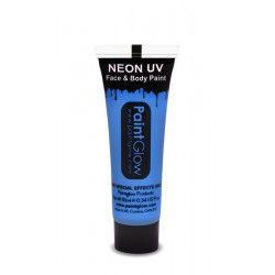 Tube maquillage bleu fluo UV 10 ml Accessoires de fête AA1A03