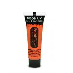 Accessoires de fête, Tube maquillage orange fluo UV 10 ml, AA1A05, 2,00€