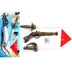 Epée pirate avec pistolet et accessoires Jouets et articles kermesse 13939