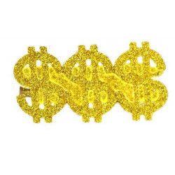 Accessoires de fête, Bague dollar 3 en 1 dorée, AC0097OR, 3,60€