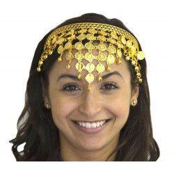 Accessoires de fête, Diadème oriental métal avec pièces dorées, AC0182, 4,55€
