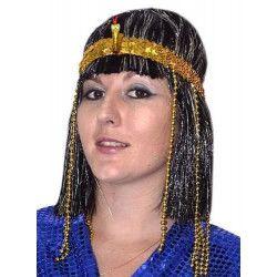 Accessoires de fête, Bandeau égyptien avec serpent et perles, AC0460, 4,20€