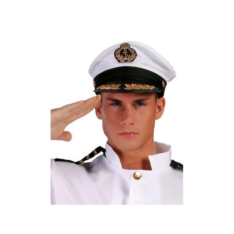 Casquette de capitaine marine Accessoires de fête 13958